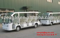 14 seater bus train Shuttle personnel carriers-EG6158TB with trailer