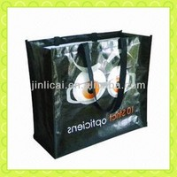 PP promotion laminated printing shopping tote bag