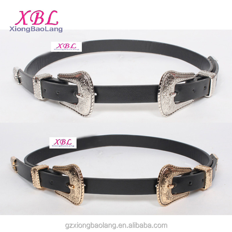 XBL Latest retro fashion designer leather belts for women silver buckle carving belt guangzhou XL-2590