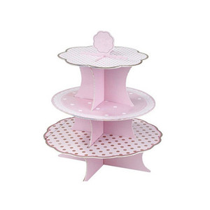 Truly Scrumptious Card 3 Tier Cup Cake Stand Disposable Cake Stand