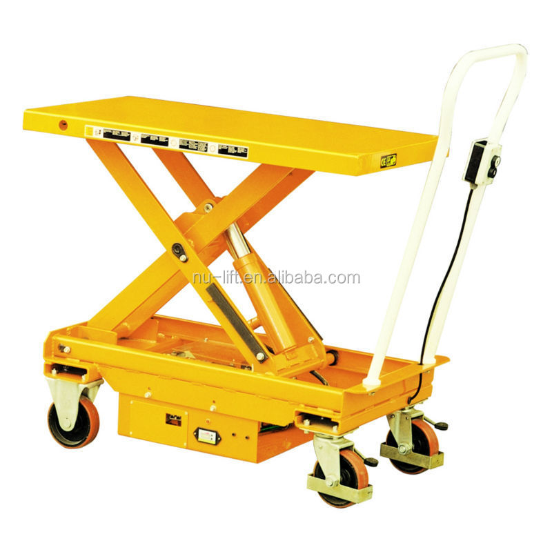 Mobile Electric Hydraulic Elevating Lift Table Cart