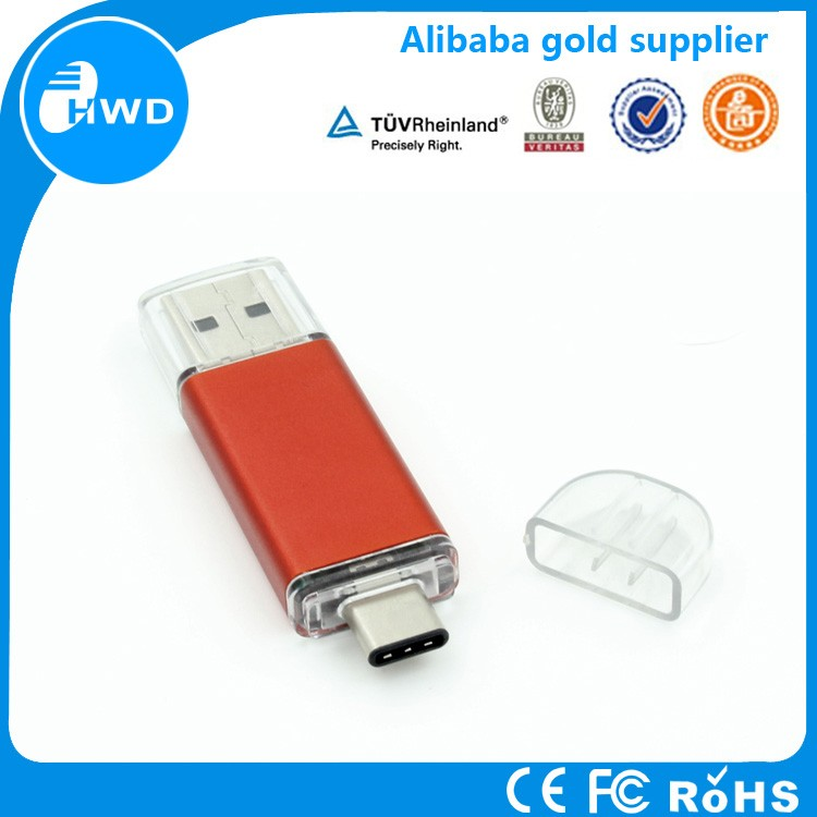 Dual otg USB flash drive 32gb Type C USB otg stick for Macbook&PC
