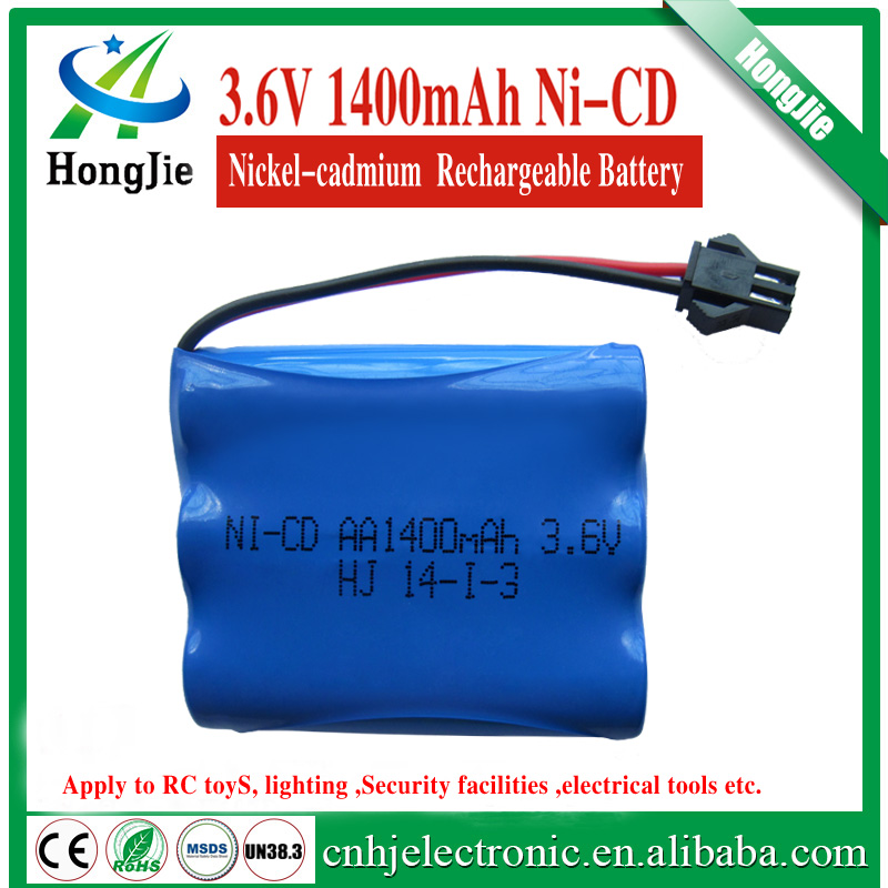 aa 1400mah rechargeable battery 3.6v Ni CD AA high quality hybrid car batteries