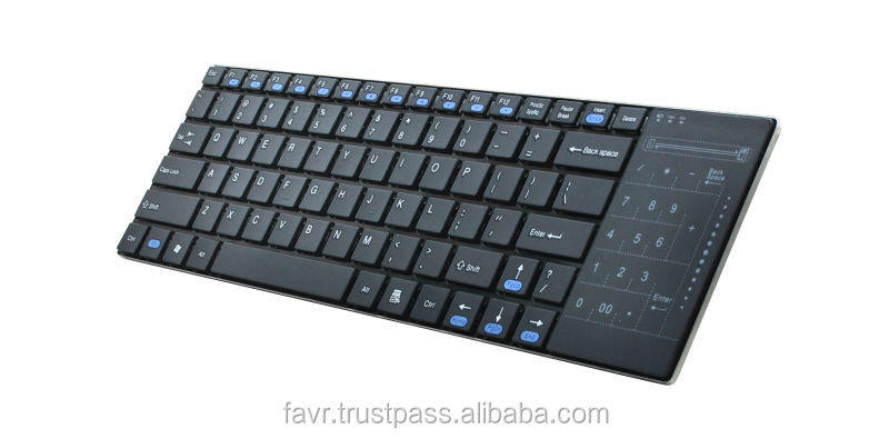 24Ghz ultra-slim touch pad keyboard for computer and smart TV