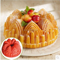 Sculpted Castle Cathedral Bundt cake Pan Bakewae church 8.6 inches