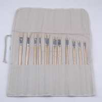 18-Piece Long Handle Bristle Hair Artist Painting Brush Set In PVC Box