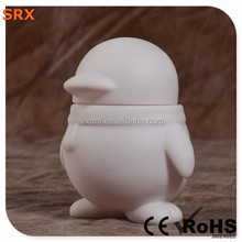 High quality penguin hot toys for kid, DIY white pop vinyl hot toy for kid, OEM non-toxic blank vinyl figures China manufacturer