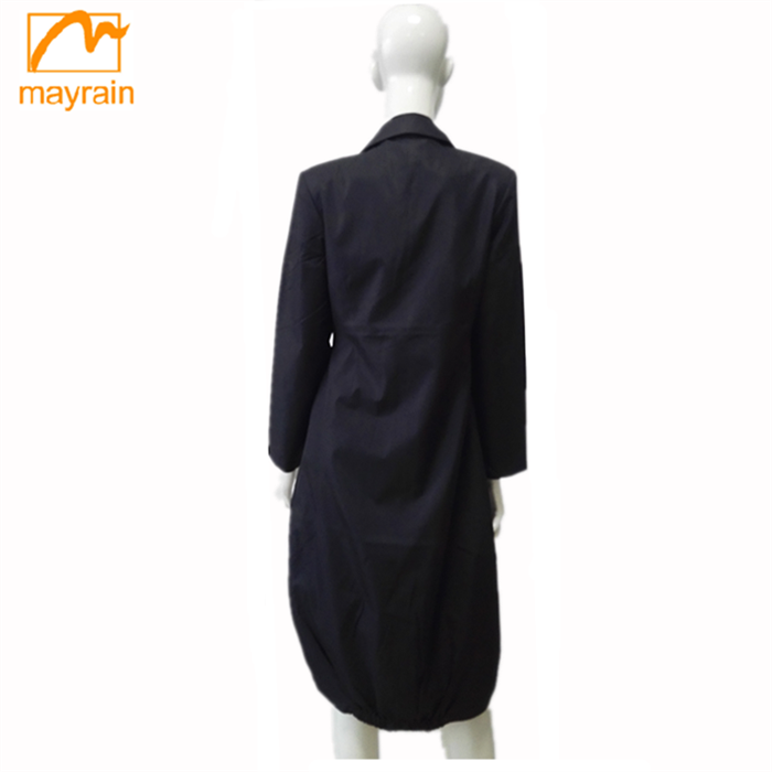 Wholesale Autumn And Winter Korean Style Woman Elegant Coats and Jackets Lapel Long-Sleeved Wind Coat