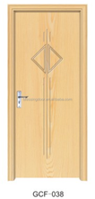 hot sale modern design cheap mdf pvc coated carved wood bedroom doors GCF-038