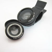High quality cheapest 3 in 1 fisheye lens universal clip lens