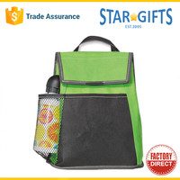 Wholesale Medium Insulated Custom Zippered 600d Polyester Tote Cooler Lunch Bag