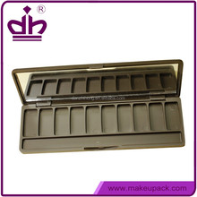 10 colors plastic eyeshadow palette packaging withj mirror