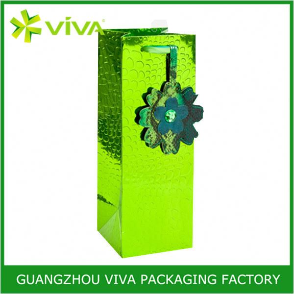 High quality paper custom elegant liquor bottle wine bag