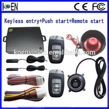 Passive Keyless Entry System PKE Car Alarm With Start Stop Push Button