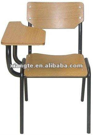 Durable schule st hle mit arm tablette metall rahmen und for Stuhl design schule