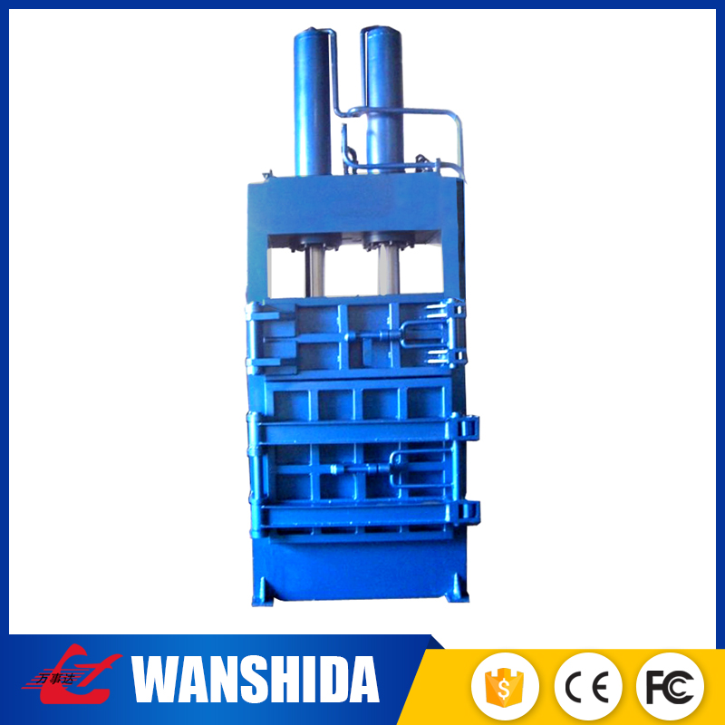 China manufacture CE approved compressed hydraulic cotton t-shirt bale press machine