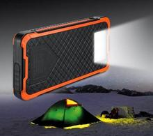 12000mah solar power bank 12000 mah solar charger with led lights