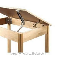 Multi-gear adjustable metal drafting table hinge