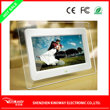 2014 hot selling 7inch Acrylic TFT LCD digital photo frame with vedio and music play