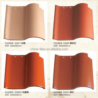 310*310mm S type Natural Red Clay Spanish Roofing TIle Price