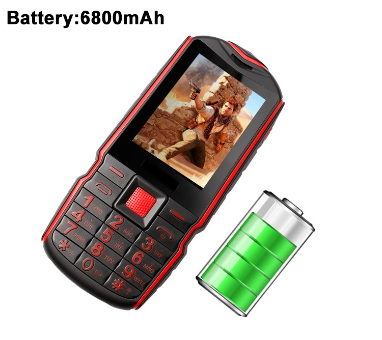 <strong>GSM</strong>+CDMA Rugged IP65 sealed Feature Phone with three sim cards waterproof phone
