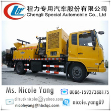 Asphalt Road Crack Repair and Asphalt Recycle Machine truck w/ road roller