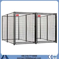 Chain Link or galvanized comfortable pvc coated steel bar dog cage