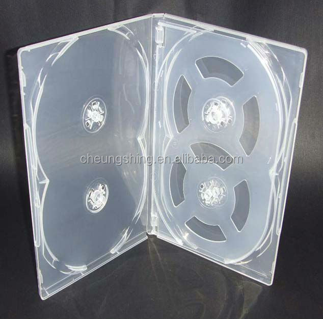 Hot sell 14mm dvd case for 6 discs for movie drama series
