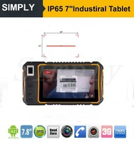 IP67 Android 4.4 3G Industrial handheld tablet with barcode reader 1D/2D,Fingerprint NFC RFID