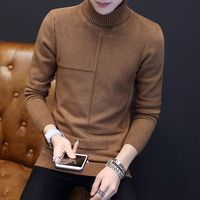 Turtleneck winter thick cable knit man sweater