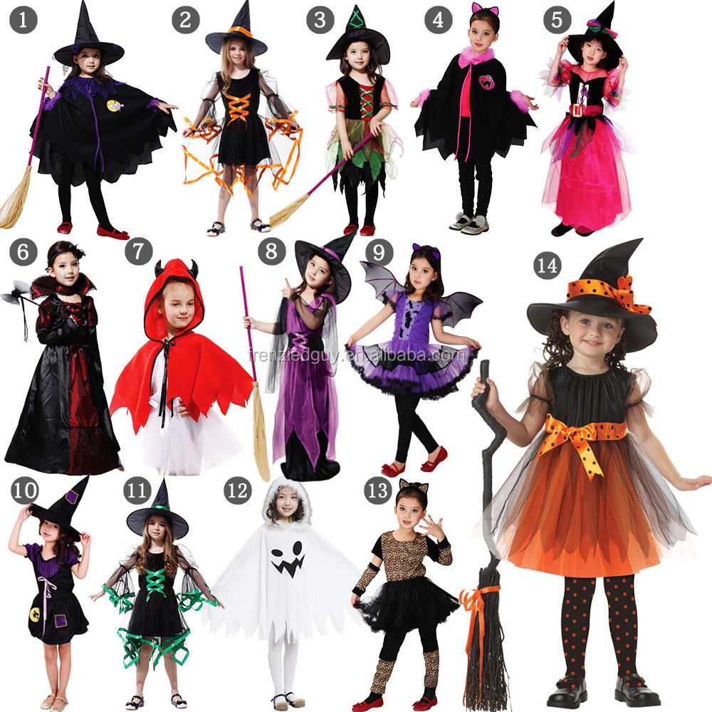 In stock kids halloween witch costume