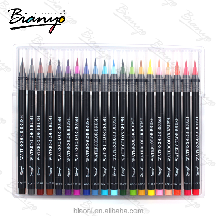 Bianyo Soft Flexible Tip Create Watercolor Effect Watercolor Brush Marker Pens