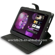 leather cover for Samsung Galaxy Tablet P7500 with stand