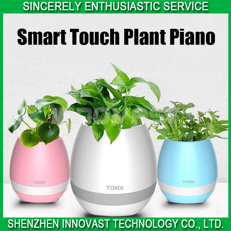 Music Flowerpot with speaker Really Plant Put Into Smart Music Pot& Flower pot for gift