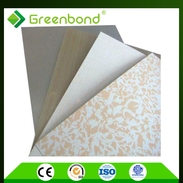 Greenbond marble design carved decorative wall aluminum composite panel