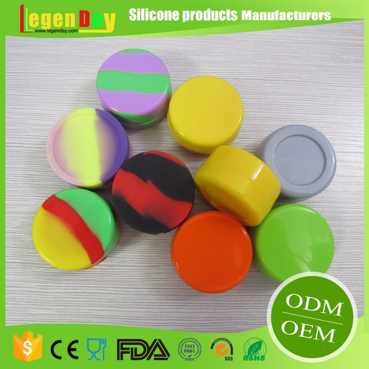 Container Containers High Quality Reusable Small Ball Non-Stick Concentrate Silicone Jars Or Wax Oil Extract Bho