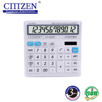 small ct-555w plastic desktop calculator