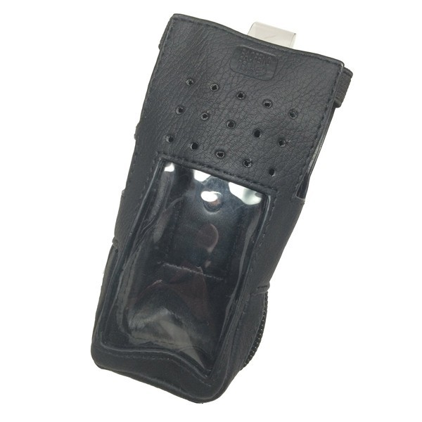 fashion style high quality exquisite handwork PU walkie talkie leather case