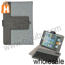 High Quality Turbinates Grain Design Detachable Bluetooth Keyboard Stand Holder Leather Case for iPad Mini 1 2 Retina
