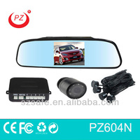 rear car parking sensors with gps night vision reverse camera and 4.3inch rearview mirror monitor