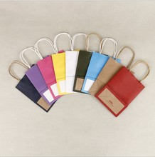 Chinese Suppliers Wholesale Cheap Colorful Kraft Paper Gift Shopping Paper Bag With Handle