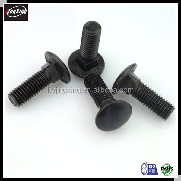 Mushroom Head Bolt DIN 603 Zinc/Black Plated Carriage Bolt