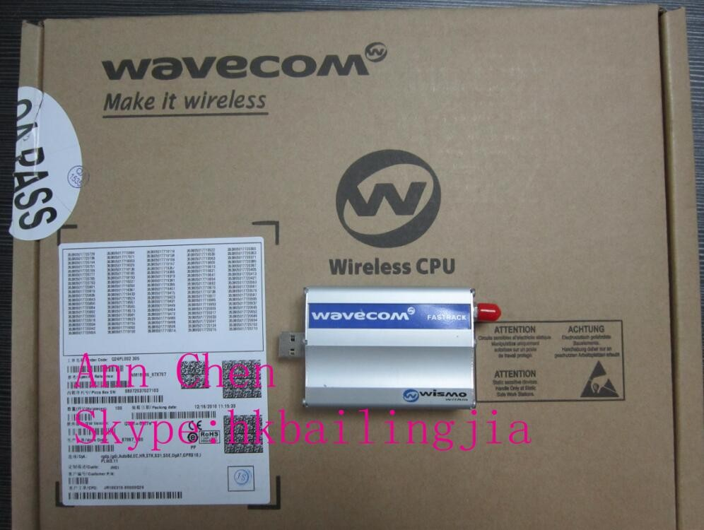 Factory direct sell wavecom fastrack m1306b support sms/audio/fax/data transmission usb modem sim card