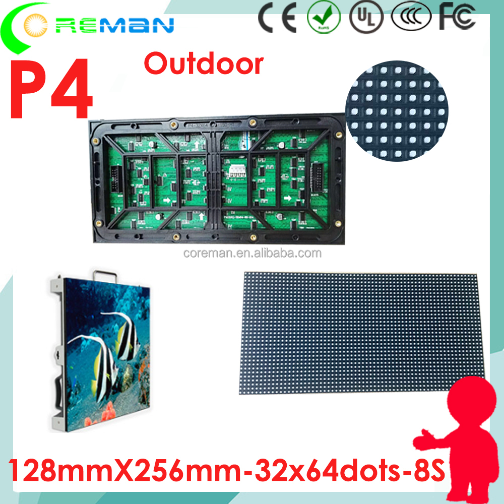 Blue film video led display unit module p4 outdoor ,stock p4 p3 p2 outdoor led module , fast delivery pixel pitch 4mm led module