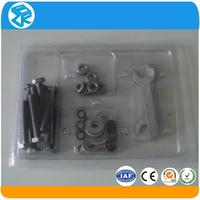 transparent and clear plastic box with sliding lid
