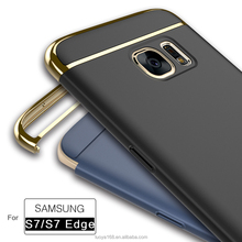 New Arrivals Luxury Glossy 3in1 Phone Case Back Cover for Sam s7 Hard PC Coated Electroplating Case for Samsung S7 Edge Elegance