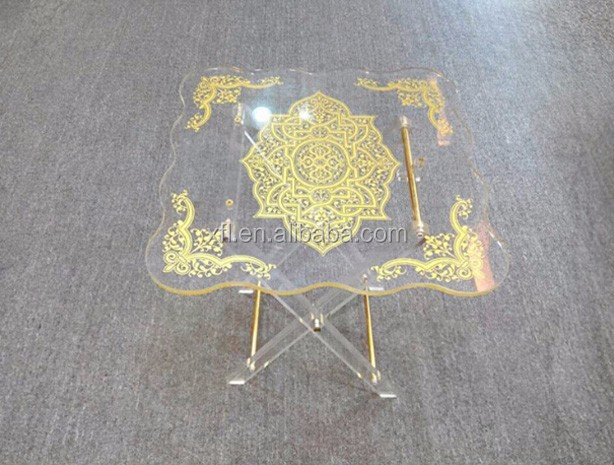 High transparent good quality clear acrylic lucite vanity table