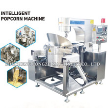 Commercial automatic caramel popcorn making popper line /oil corn popping machine for sale