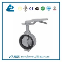 Soft Seal Aluminum Alloy body butterfly valve