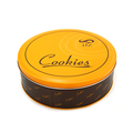 Round customized cookies food packaging metal tin boxes